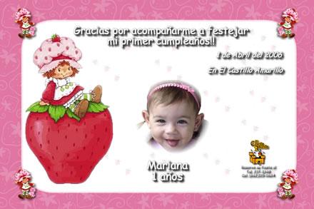Invitaciónes para cumpleaños rosita fresita - Imagui