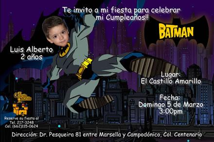 Invitaciónes de batman gratis - Imagui